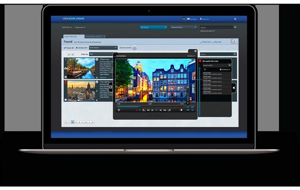 Interfaz de VSNEXPLORER, el gestor de media avanzado para la gestión de sus contenidos audiovisuales