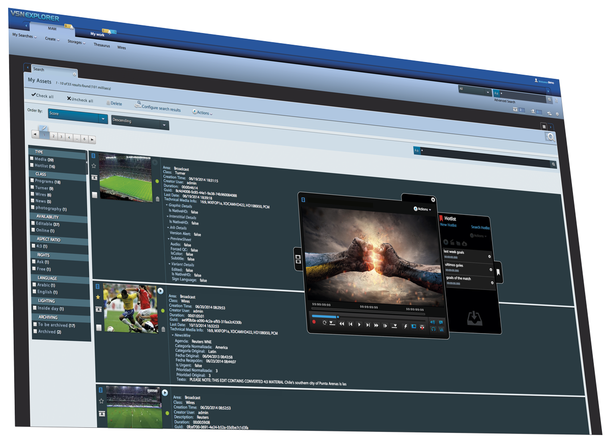 VSNEXPLORER MAM: Media Asset Management en la nube