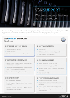 VSN Support Brochure 2015