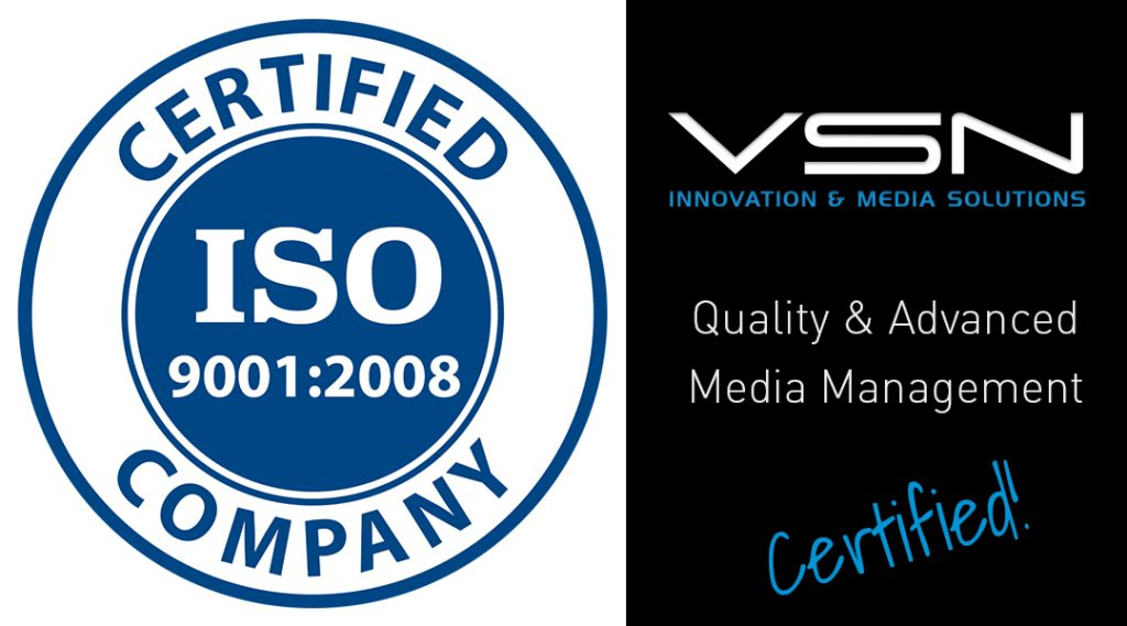 VSN receives the prestigious ISO9001:2008 Certification