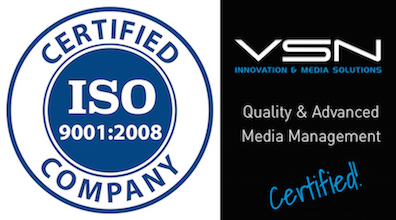 VSN is awarded with the ISO9001:2008 Certification for quality management