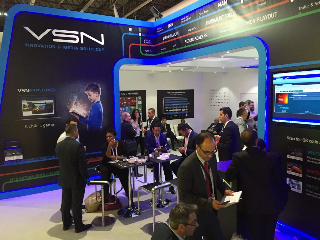 VSN's stand at IBC 2015.