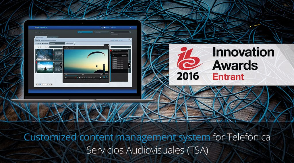VSN and Telefónica Servicios Audiovisuales (TSA) take part in the IBC Innovation Awards 2016