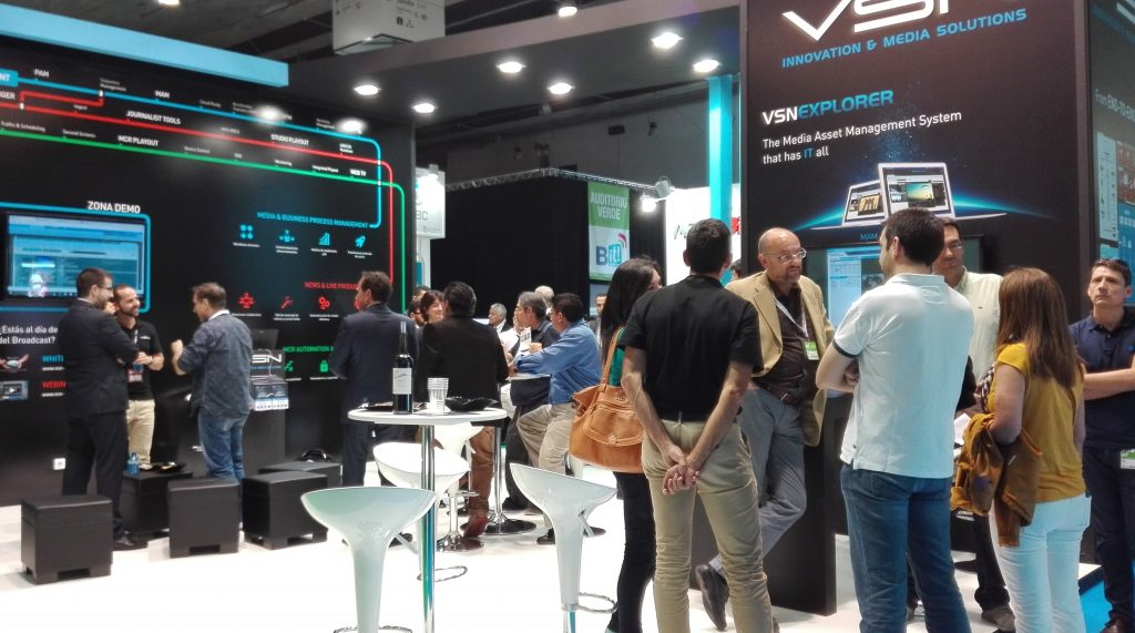 VSN's booth received a great deal of visitors interested in Media Management