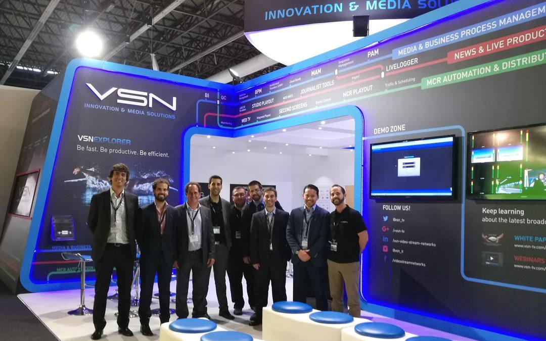 VSN despide IBC 2016 con nuevos acuerdos internacionales y una gran acogida de sus últimos desarrollos
