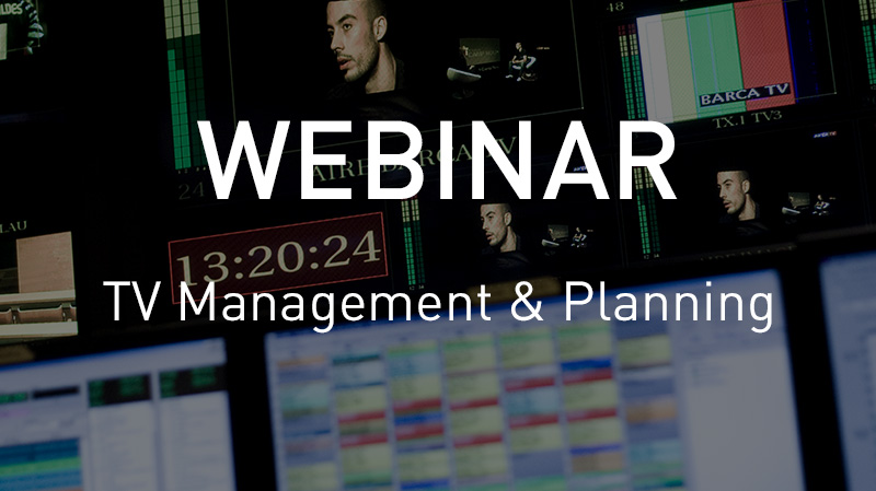 Webinar TV Management and planning