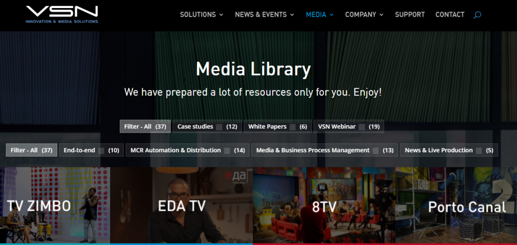 VSN launches its new media library