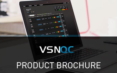VSNQC Brochure, the Quality Check modules for media content quality control