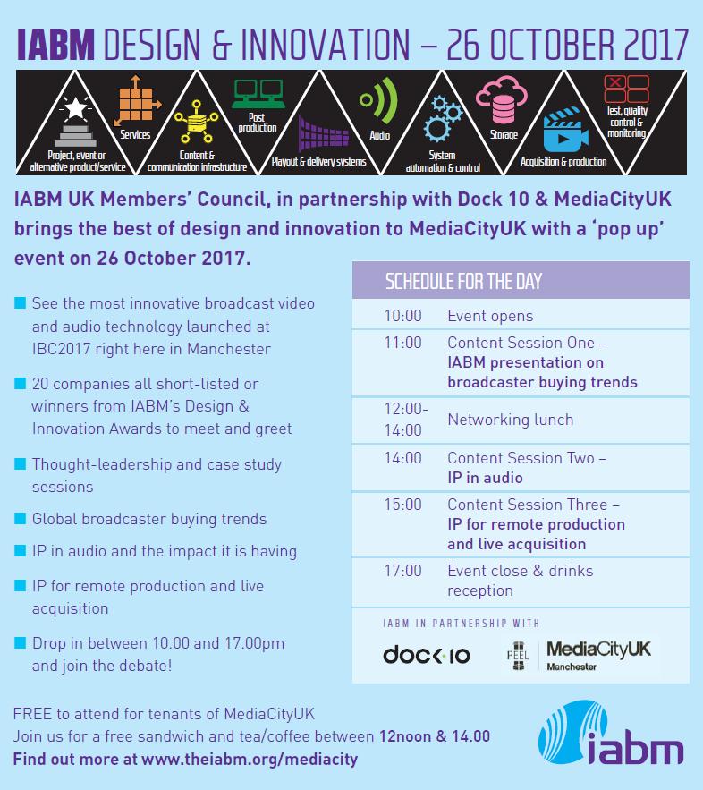 IABM UK Media City Event