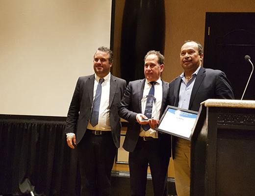 Entrega de premios tras el keynote de VSN en Nab Show 2018