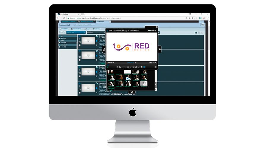 La nueva plataforma de La Red México para el intercambio de contenidos, basada en VSNExplorer MAM en cloud