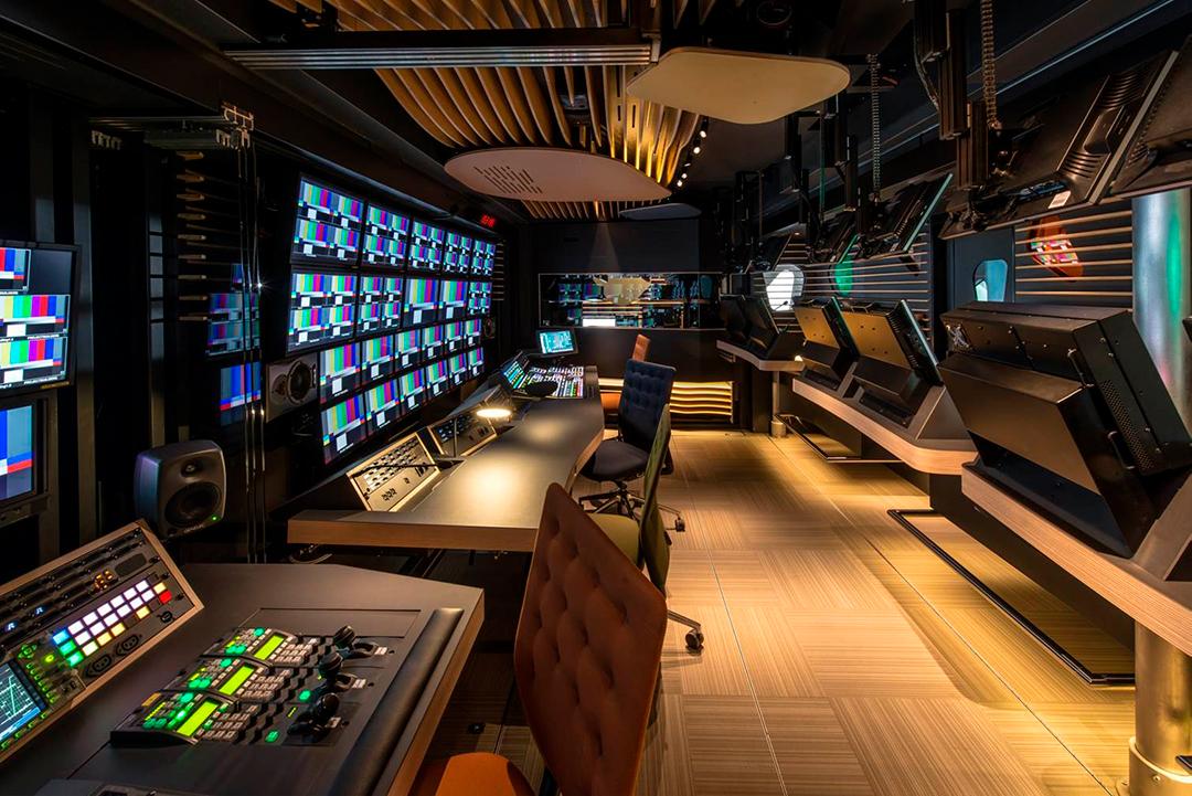 Estudio interior de un OB Truck de Videohouse