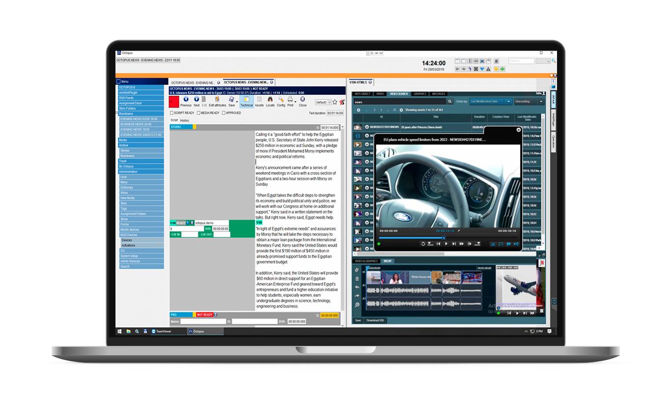 Nuevas integraciones llegan a VSN NewsConnect para producción de noticias
