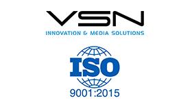 VSN anuncia la renovación de la certificación ISO 9001:2015
