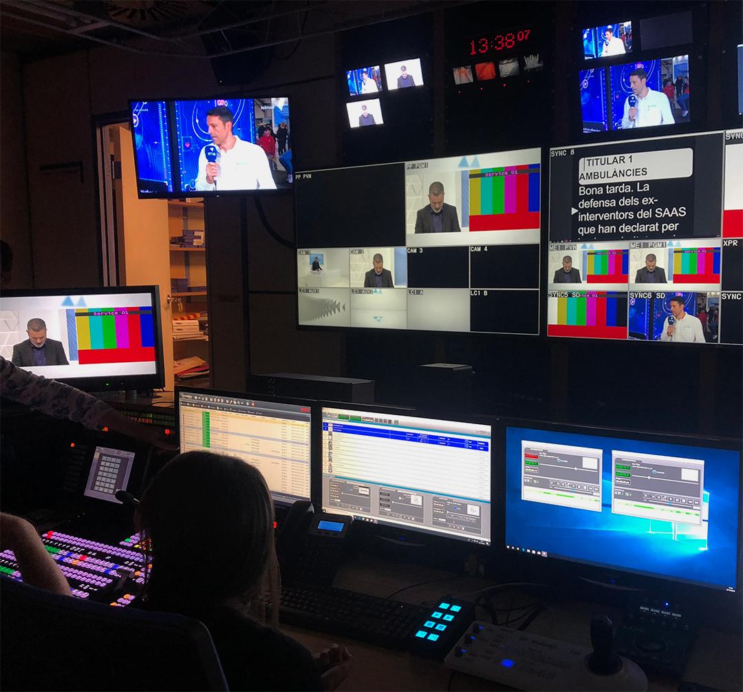 Solución de producción de noticias de VSN en acción, basado en el plugin VSN NewsConnect