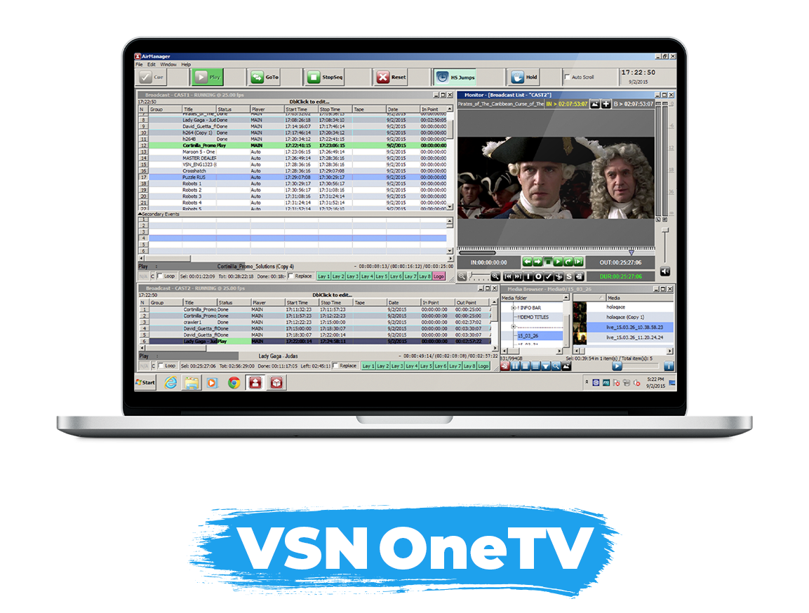 VSNNEWS TERMINAL: news production system, the journalist tool
