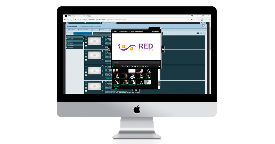 The new platform of La Red Mexico for content exchange based on VSNExplorer MAM
